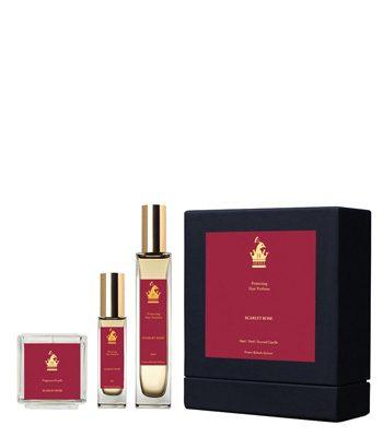herra hair perfume deluxe gift set scarlet rose