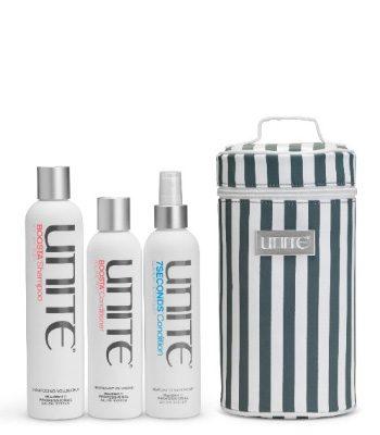 unite boosta shampoo conditioner gratis 7 seconds leave in etui