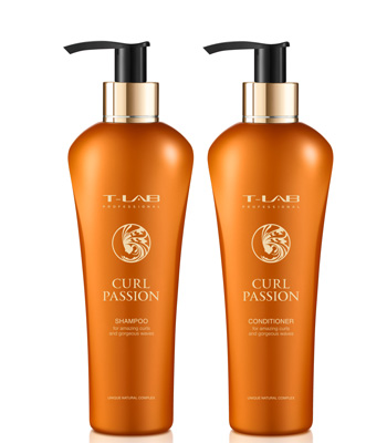 T-LAB Curly and Wavy Hair Treat Essentials